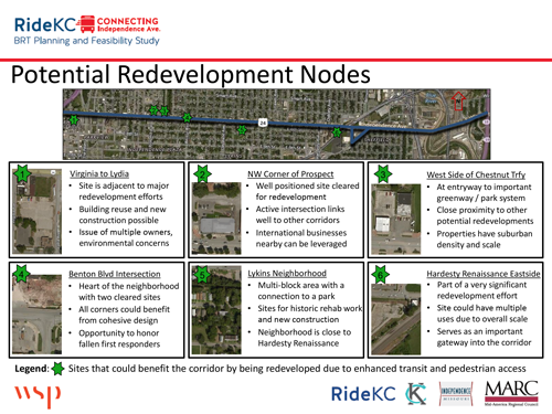 Potential redevelopment areas
