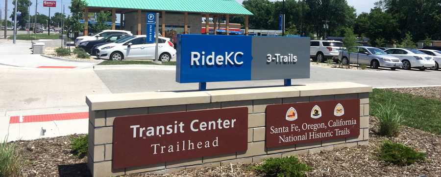 map of 3-Trails park-and-ride