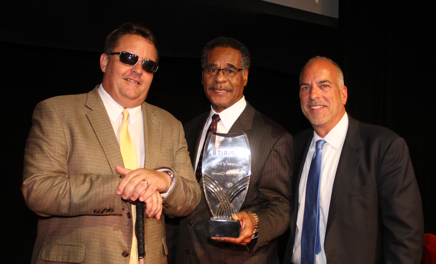 KCATA President/CEO Robbie Makinen, U.S. Representative Emanuel Cleaver, and KCATA Board of Commissioners Chairman Steve Klika