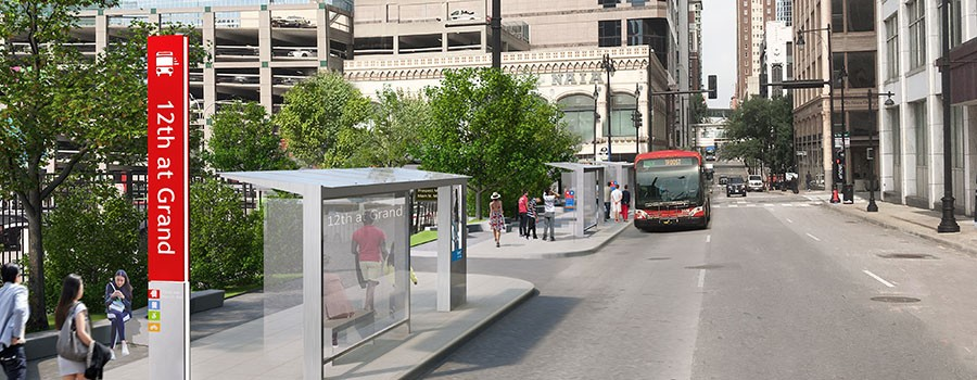 Upgrades planned for 12th & Grand transit stop