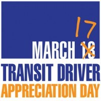 Transit Driver Appreciation Day: March 17