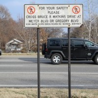 Study examines pedestrian safety on Watkins Drive