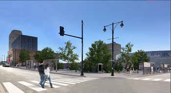 A look at how the 12th & Grand transit stop could appear after it's upgraded.