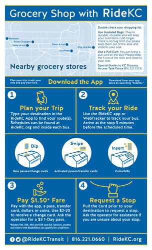Grocery shopping with RideKC