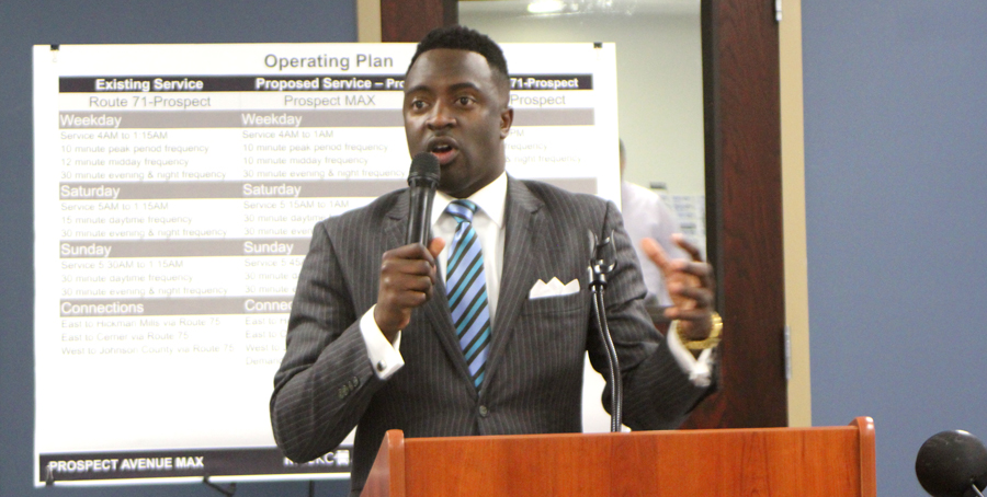 Councilman Reed gives an update.
