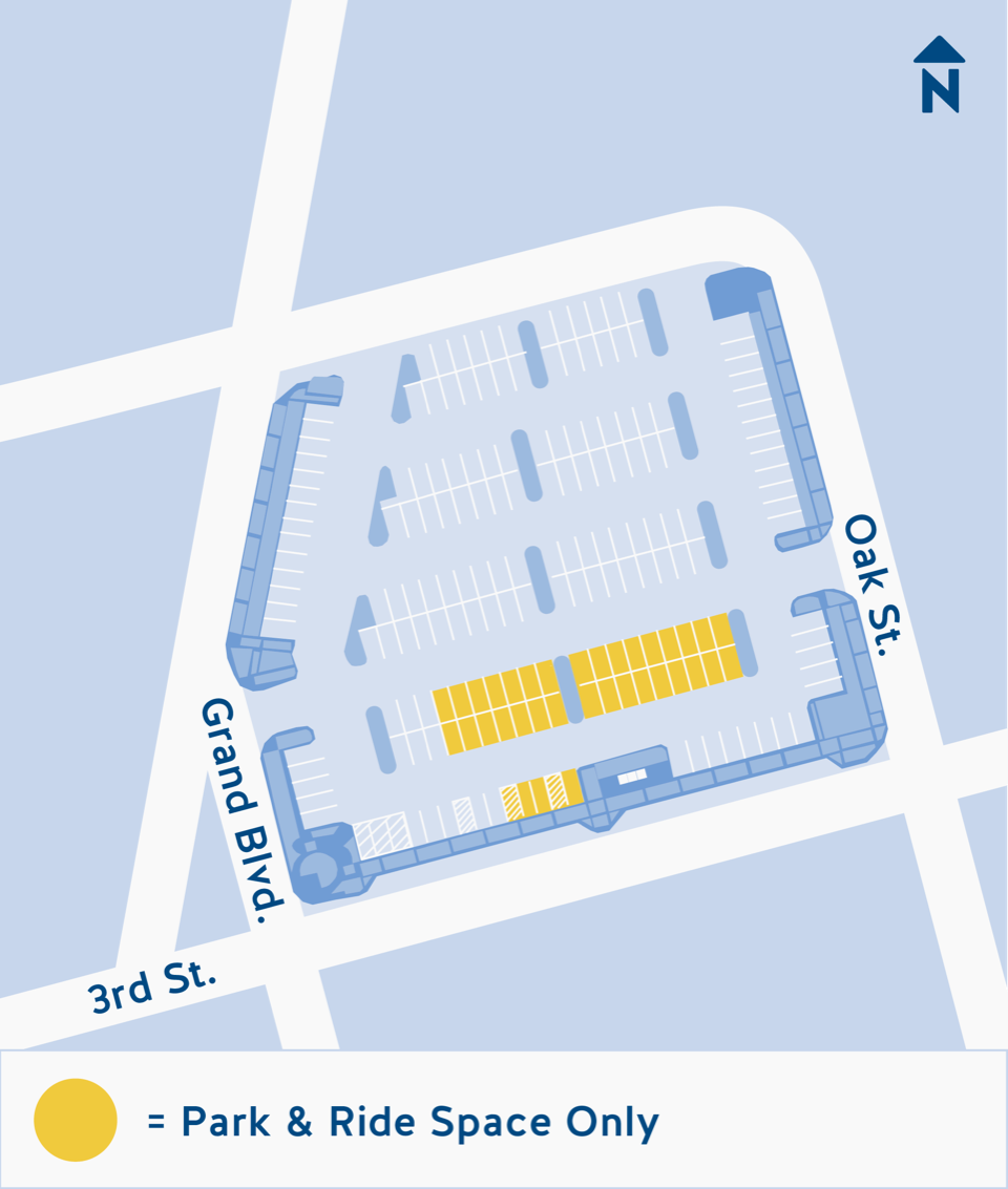 3rd and Grand parking map