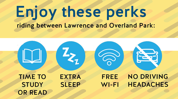 Study, use wifi or sleep while avoiding the hassle of driving with 710.