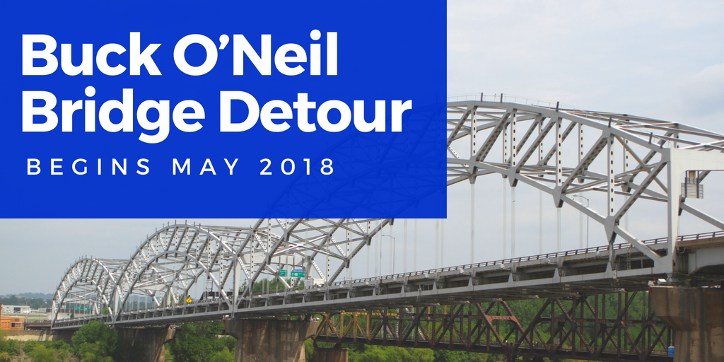 Reroutes for Buck O'Neil Bridge