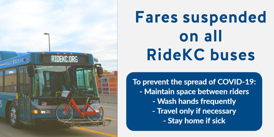 Fares Suspended In Response to COVID-19