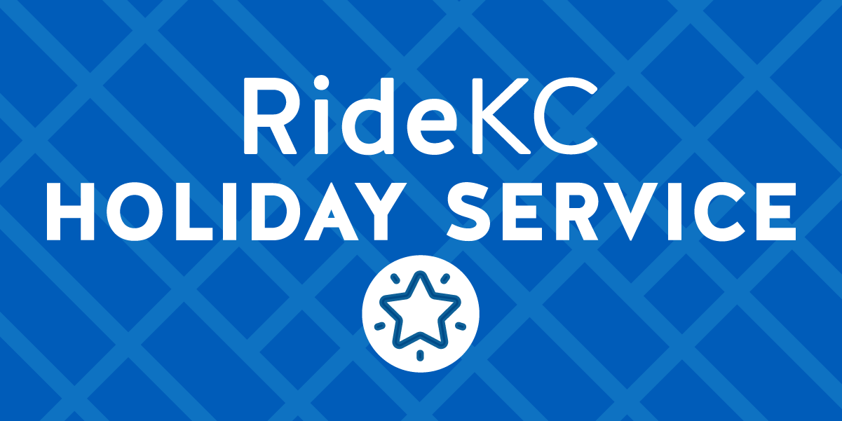 Holiday Service logo white text on blue background
