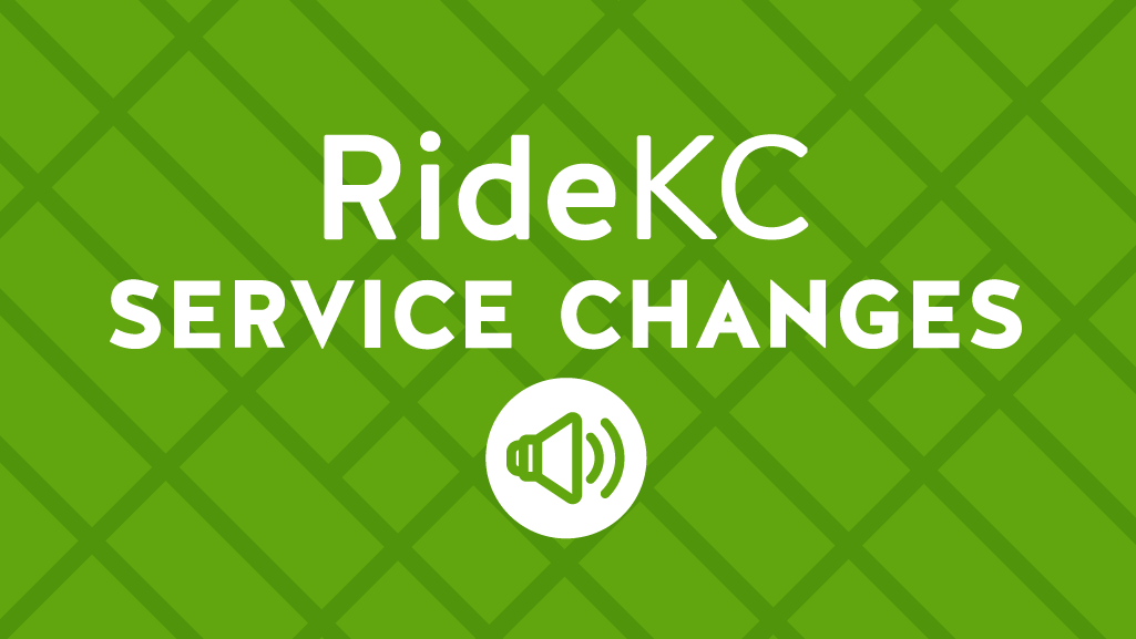 Service Changes, words on green background