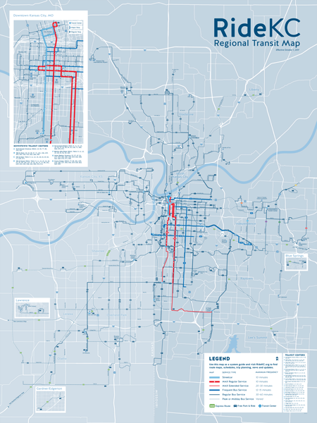 System Map For RideKC Rider Guide Ride KC - Transit map