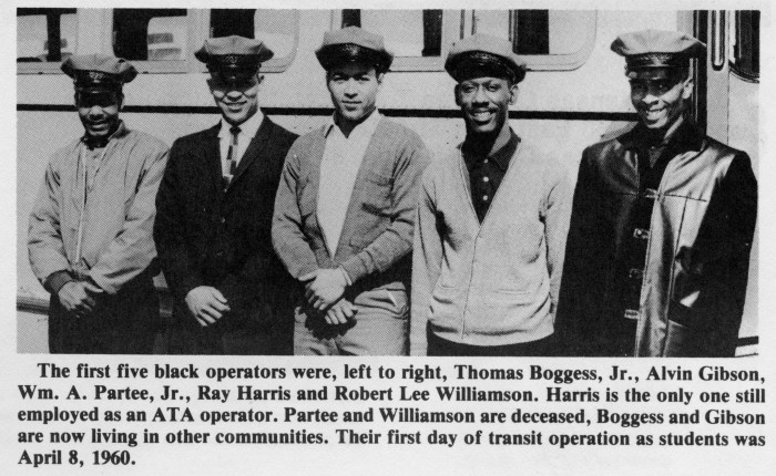First five Black bus operators at KCATA