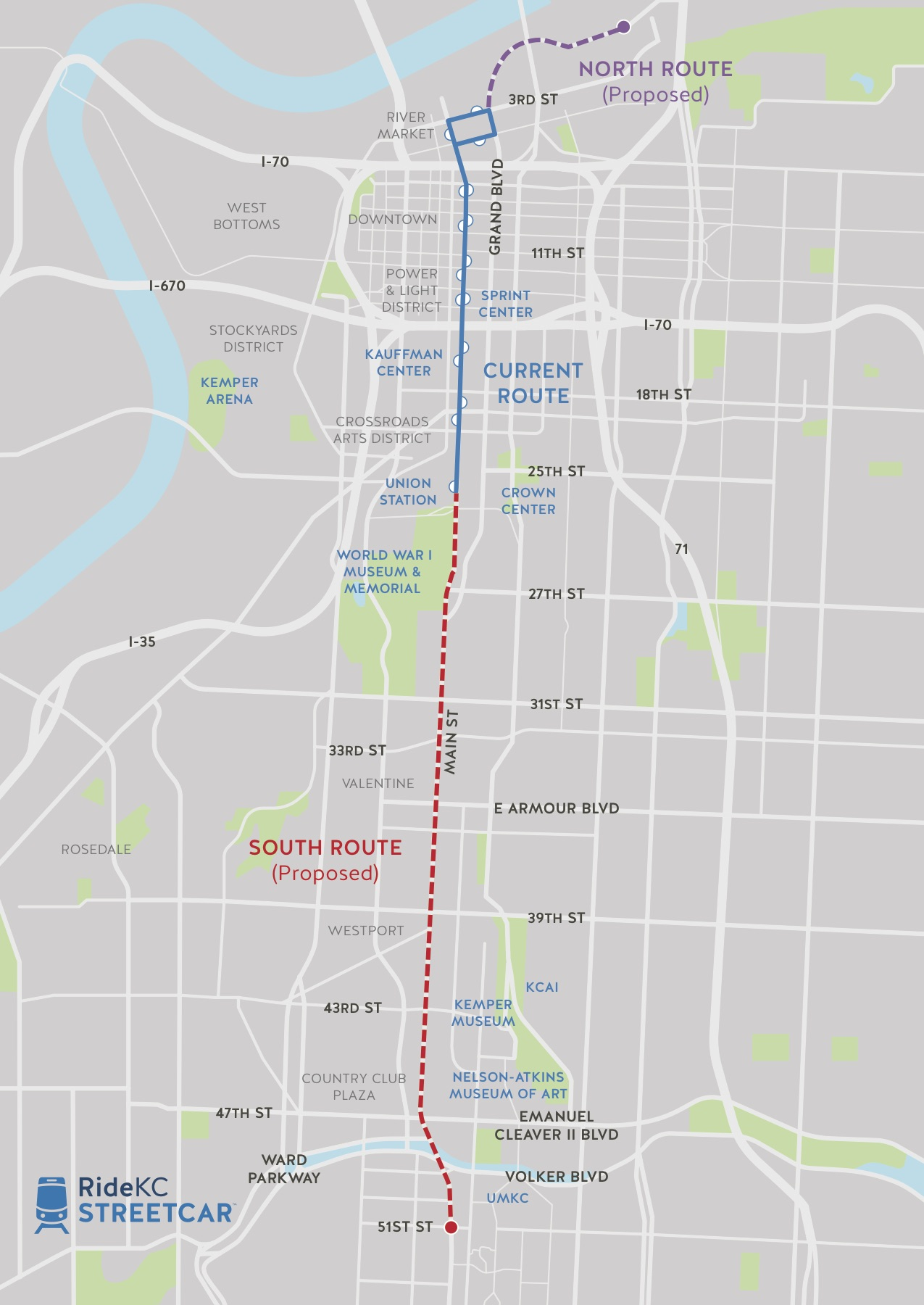 KC Streetcar Expansion Map