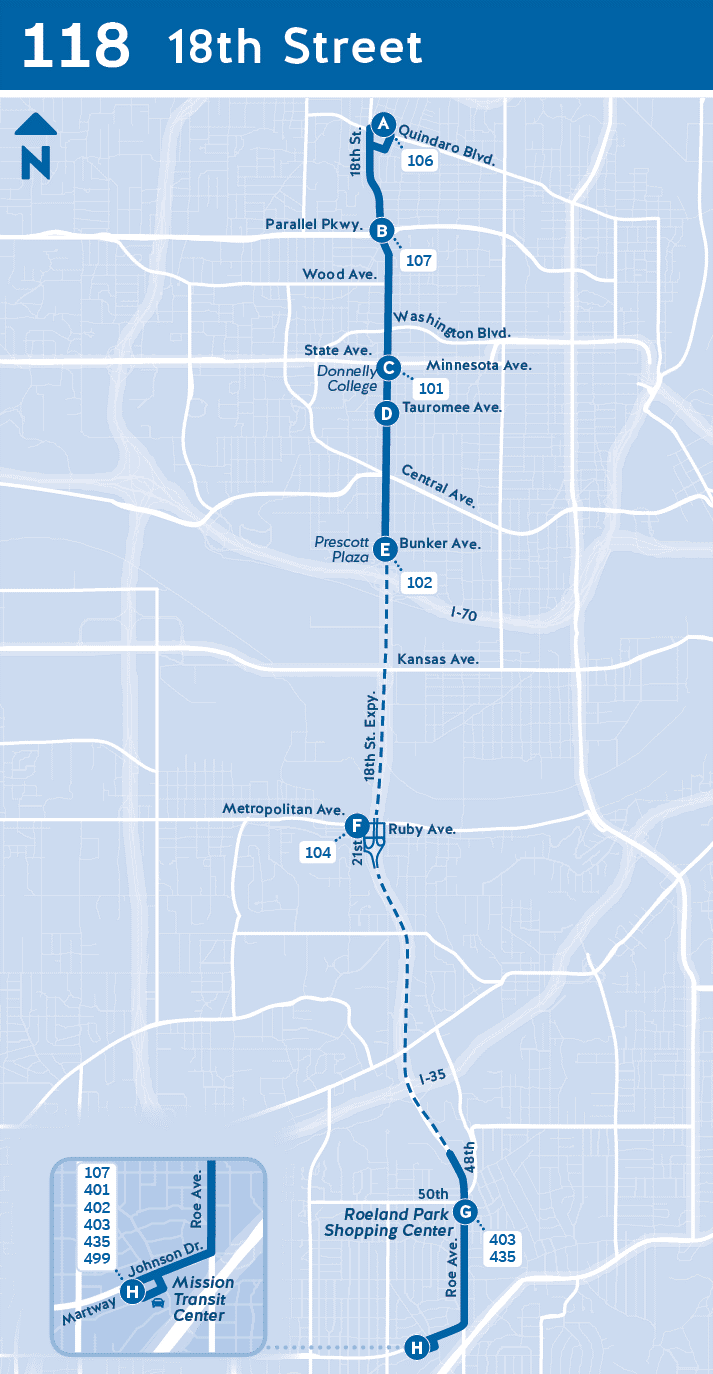 Map of 118 service