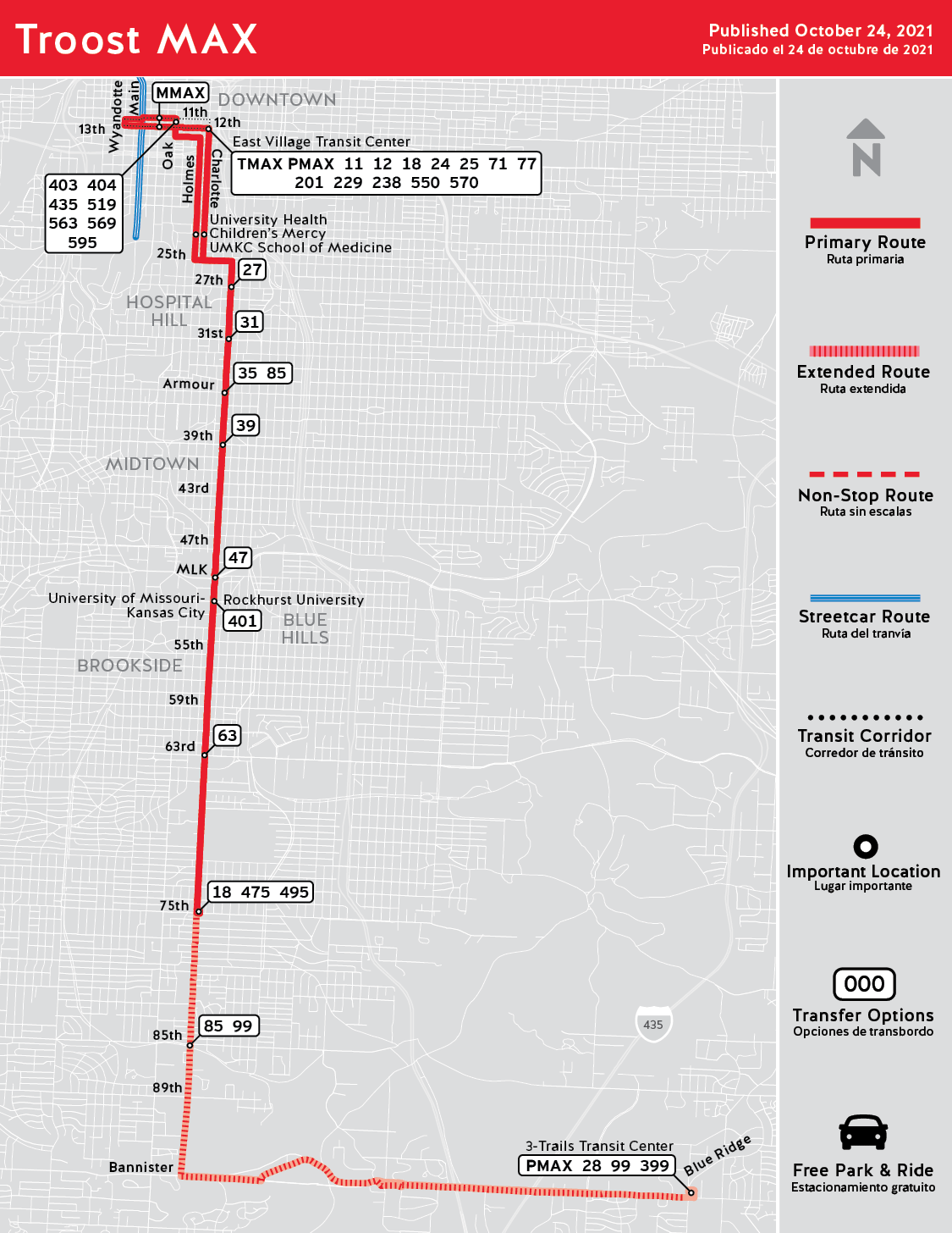 Troost Max Routes Ridekc